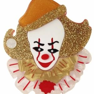 Pennywise It horror pinup girl brooch
